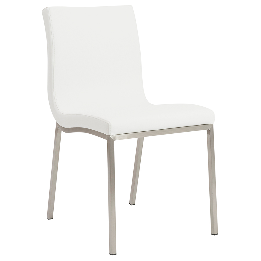 Smith modern white dining chair eurway furniture for Contemporary white dining chairs