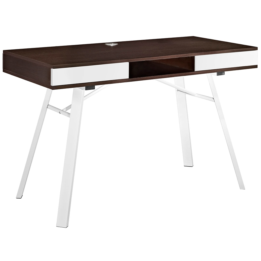 Solstice Modern Cherry Desk
