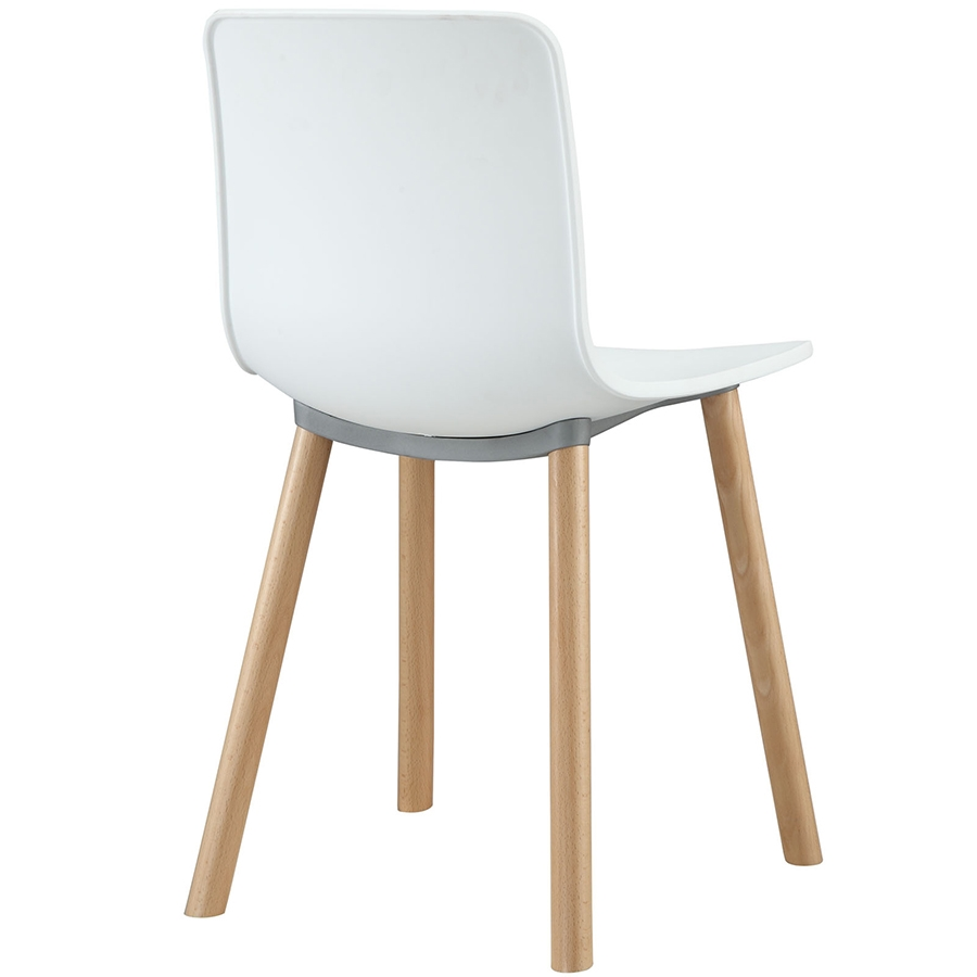 Space White Modern Dining Chair - Back View