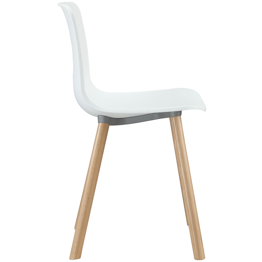 Space White Modern Dining Chair Modern Dining Chair - Seat Detail