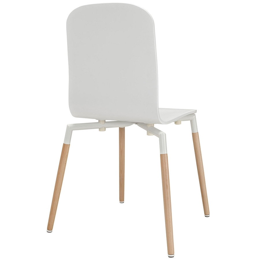 Spain White Modern Dining Chair - Back View