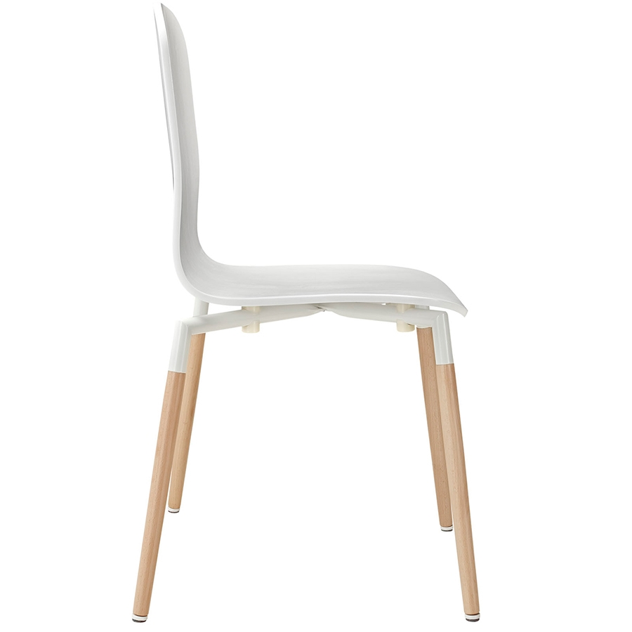 Spain White Modern Dining Chair Modern Dining Chair - Seat Detail