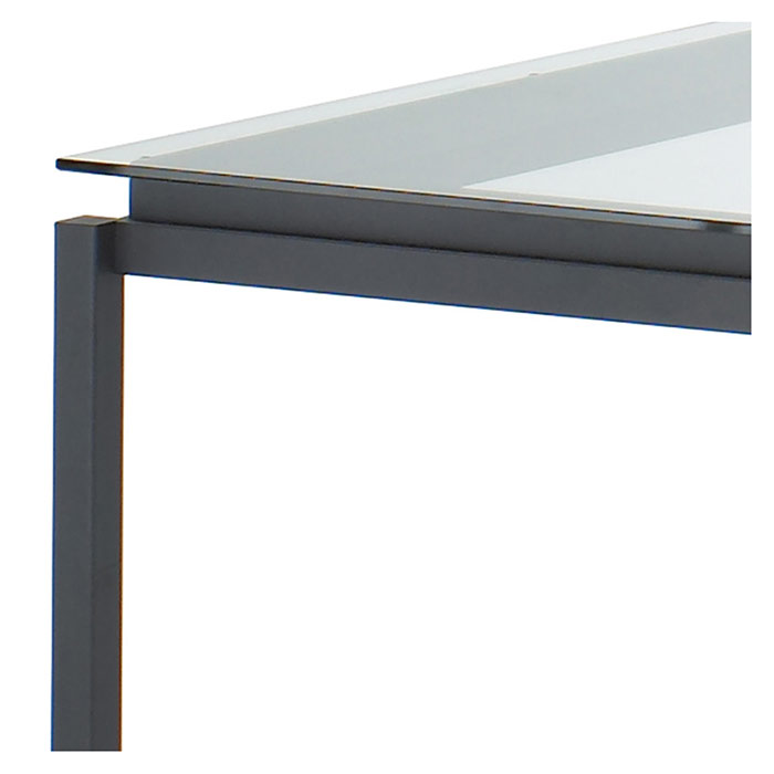 Spencer Counter Table in Black Coral- Corner