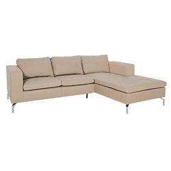 step modern sofa with chaise