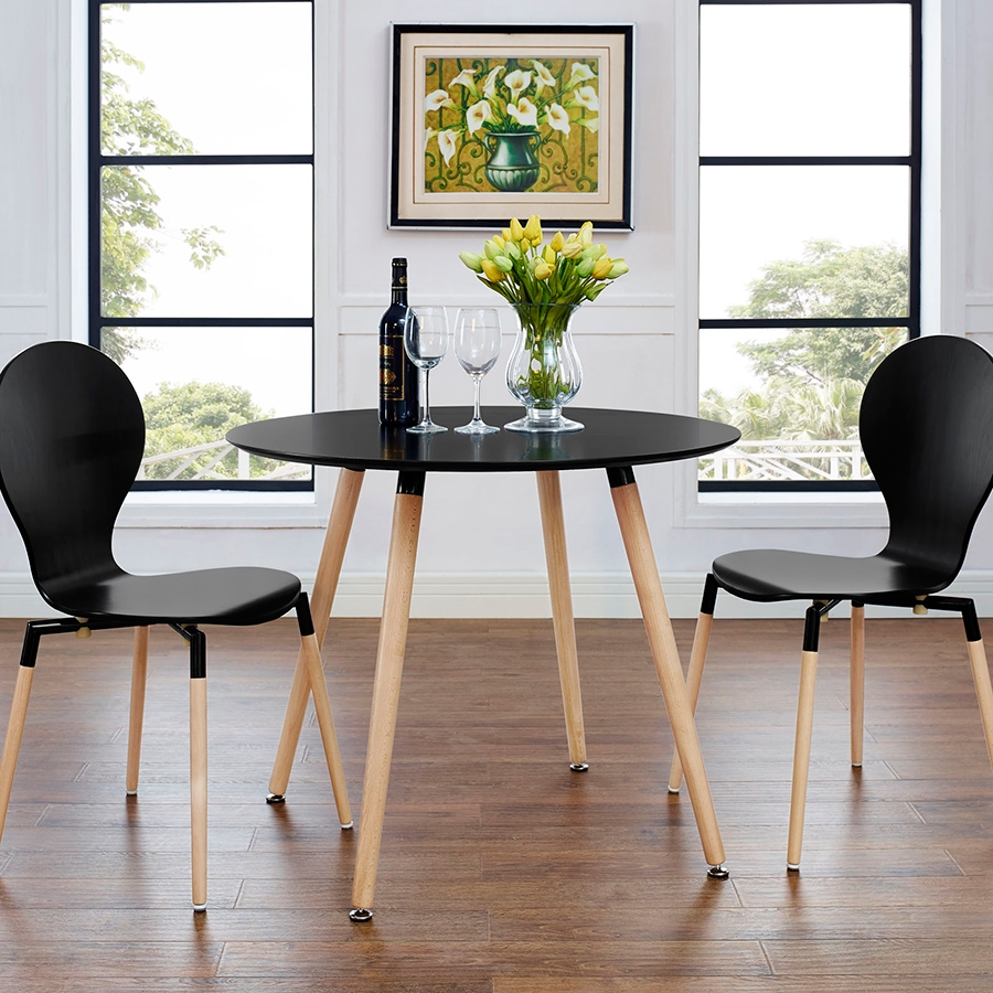 Tadley Modern Black Dining Table Eurway Furniture