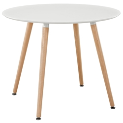 Tadley White Modern Dining Table