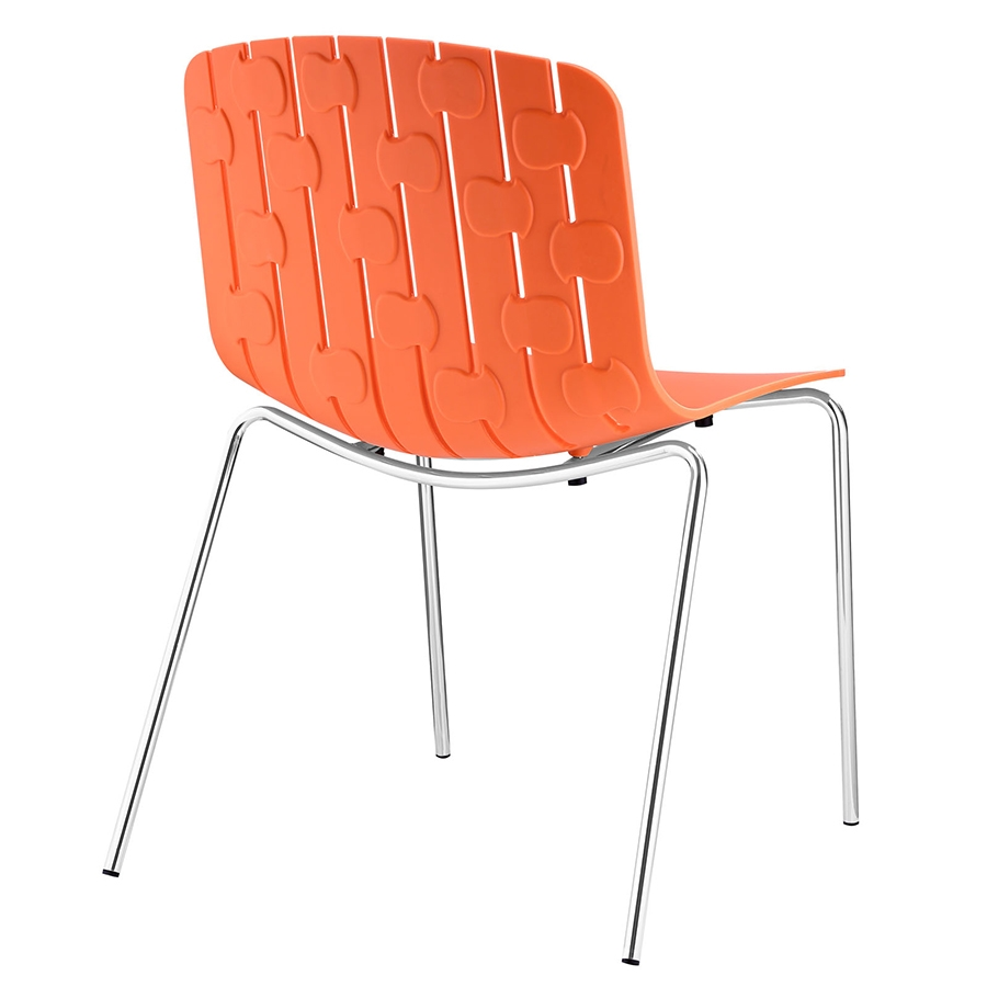 Taurus Orange Modern Dining Chair - Back View