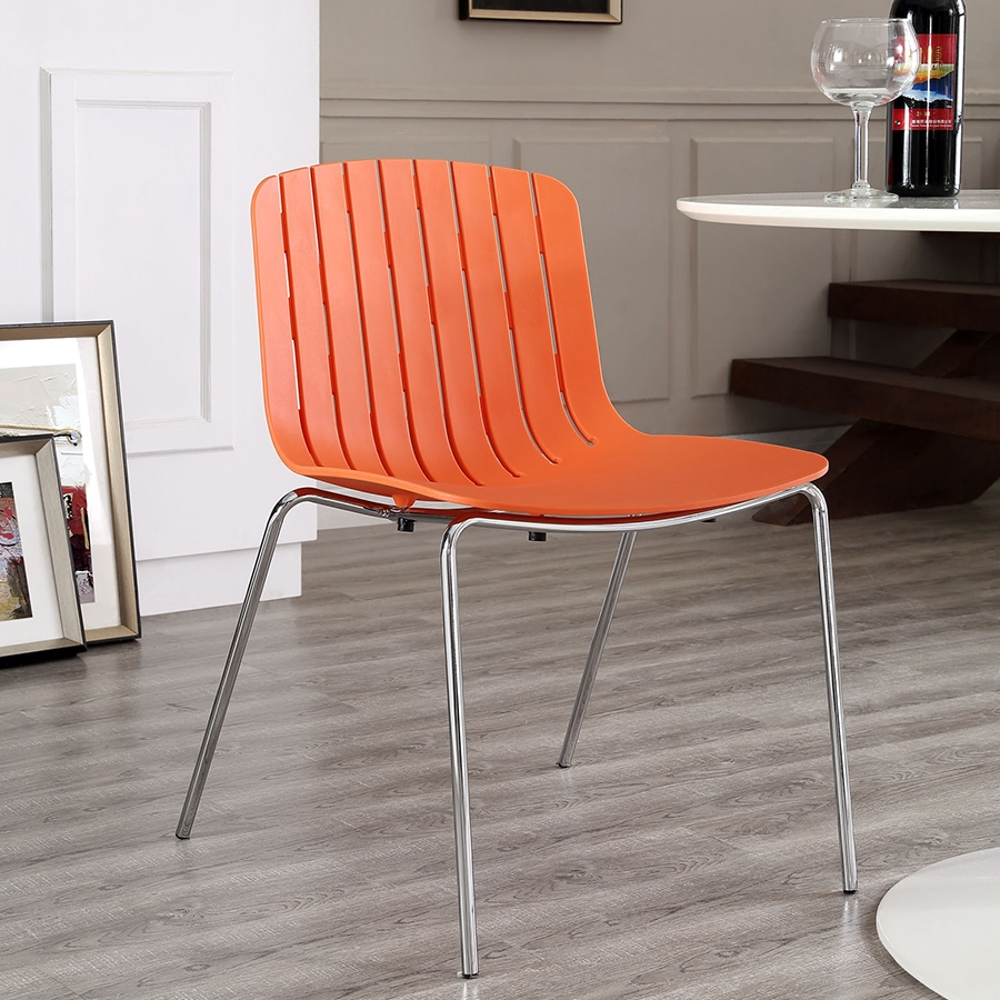 Taurus Contemporary Orange Dining Chair