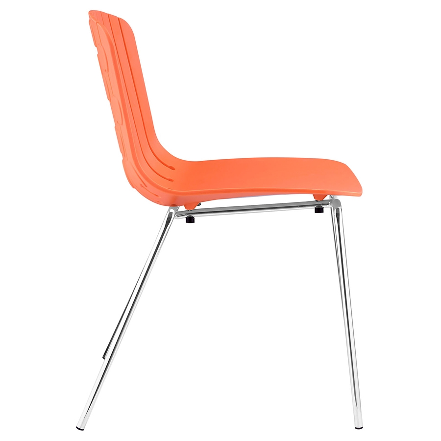 Taurus Orange Modern Dining Chair Modern Dining Chair - Seat Detail
