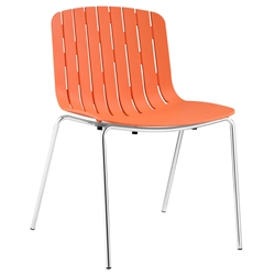 Taurus Orange Modern Dining Chair