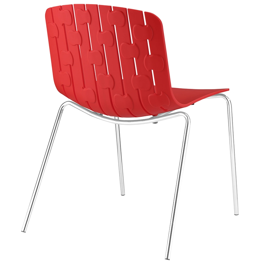 Taurus Red Modern Dining Chair - Back View