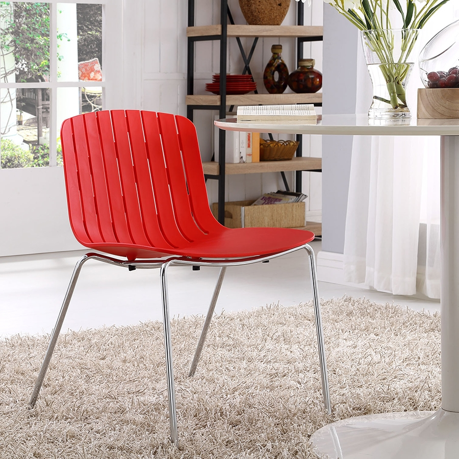 Taurus Contemporary Red Dining Chair