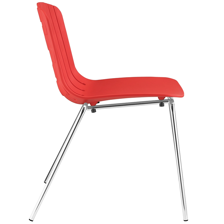 Taurus Red Modern Dining Chair Modern Dining Chair - Seat Detail