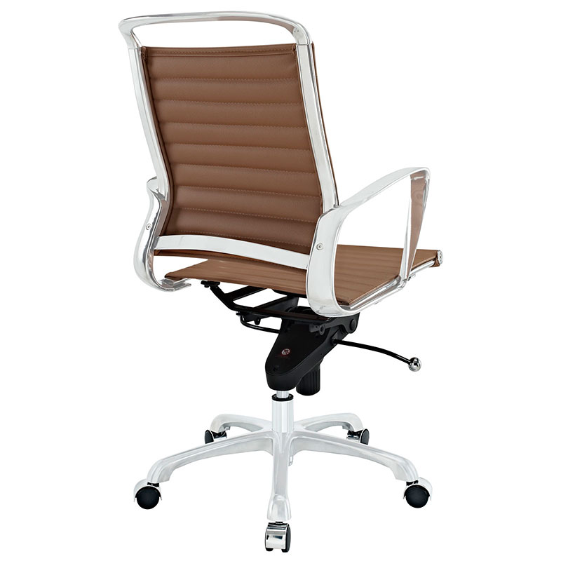 Techno Low Back Modern Office Chair - Back View
