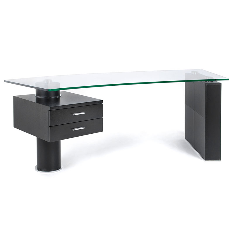 Tierney Modern Glass Desk