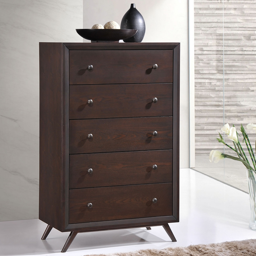 Toronto Contemporary Cappuccino High Chest