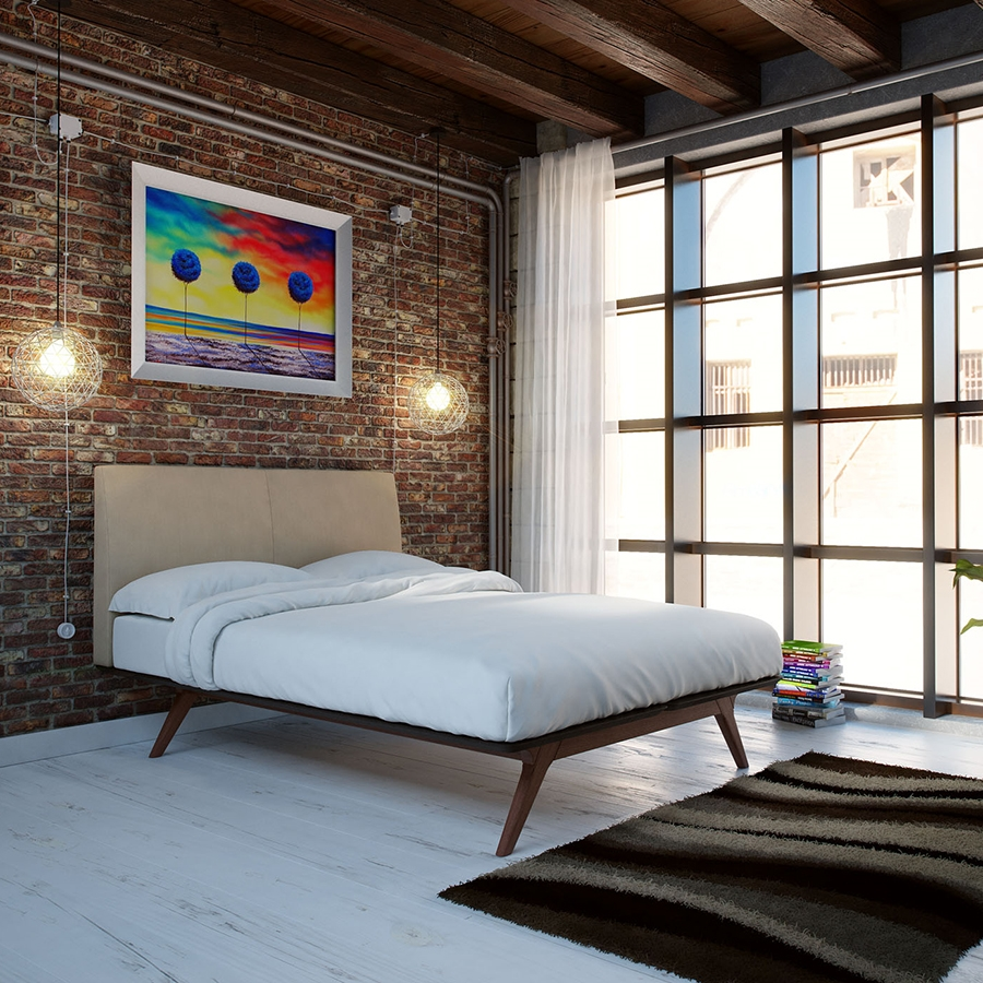 Toronto Latte Queen Contemporary Bed
