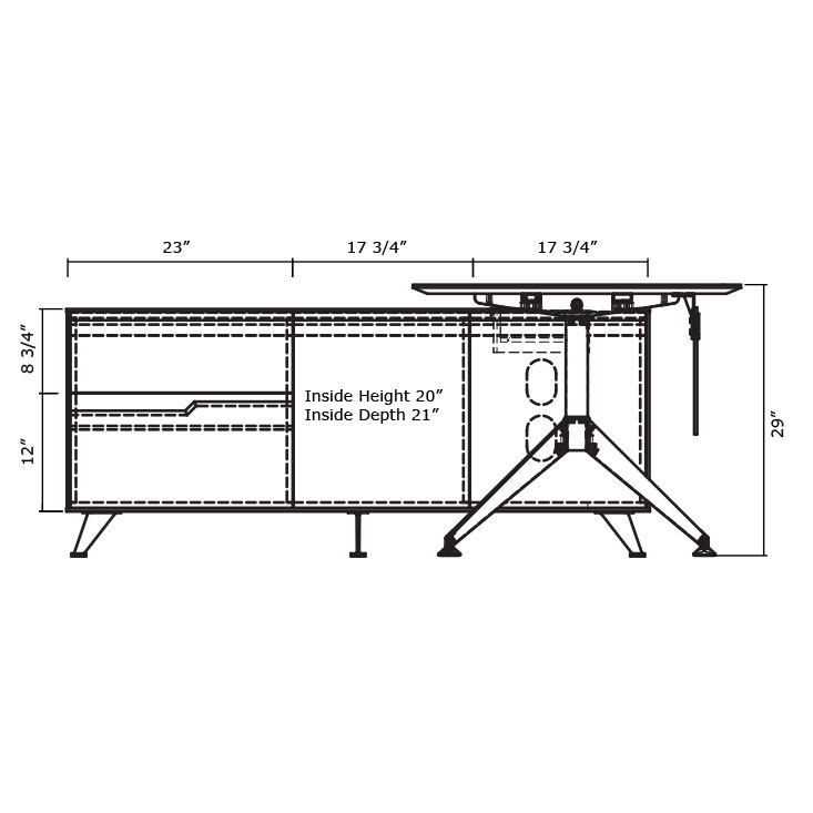 Trondheim Desk with Credenza - Diagram