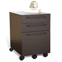 Turner Modern Mobile File Cabinet in Espresso
