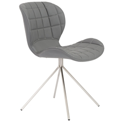 Vaughn Modern Gray Side Chair