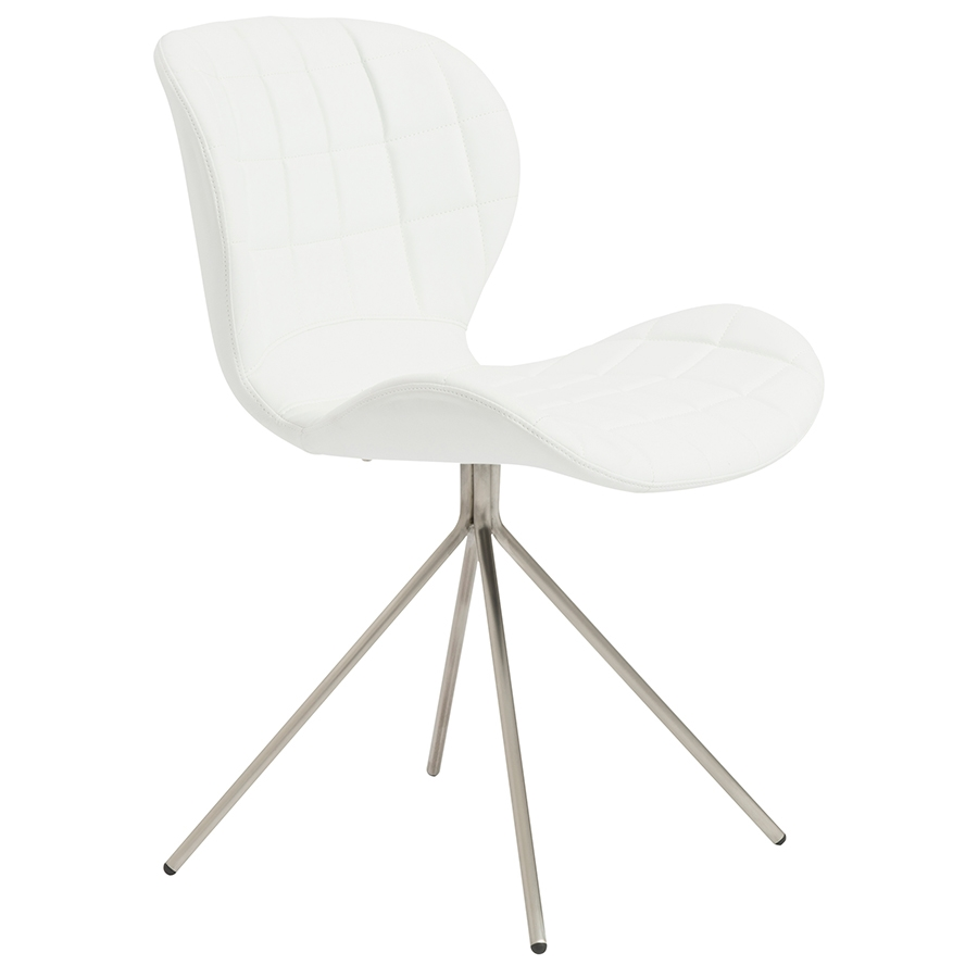 Vaughn Modern White Side Chair