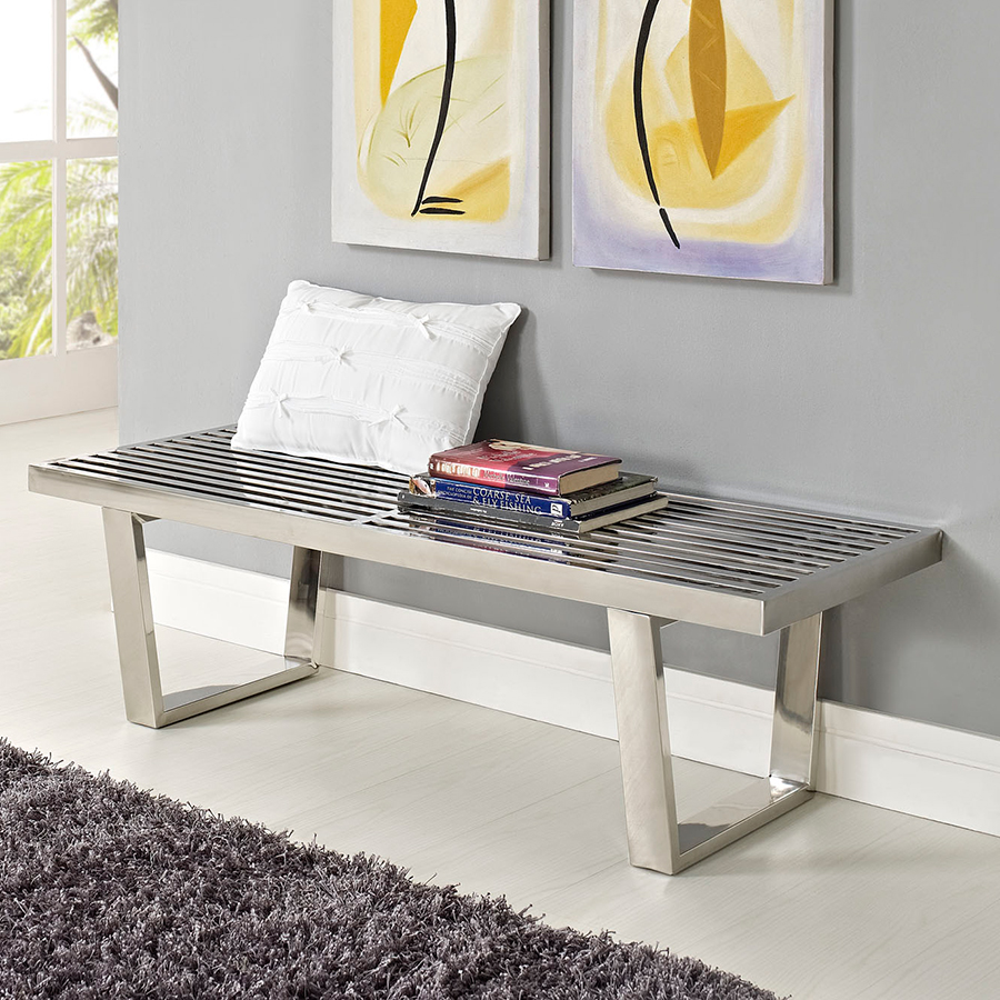 vector 48 inch stainless steel bench