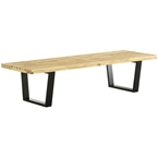 vector 60 inch modern classic bench