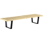 vector 72 inch modern classic bench