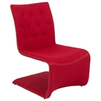 Vicky Contemporary Red Lounge Chair