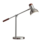Wilson Brushed Steel Modern Desk Lamp