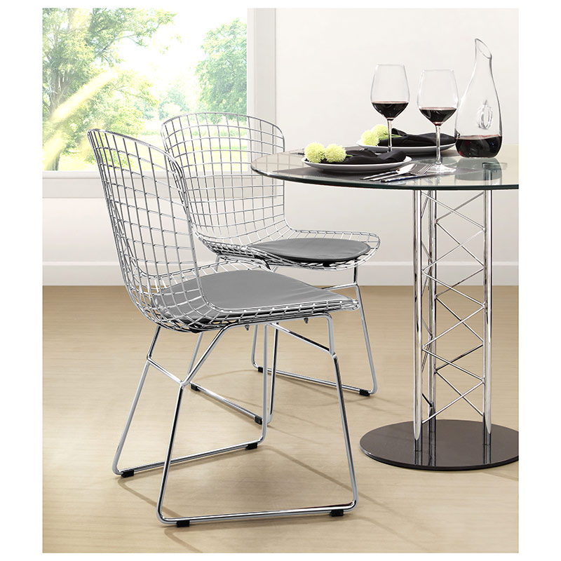 wire dining chair- room