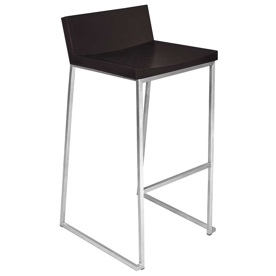 modern stools  zaire wenge bar stool  eurway modern - zaire wenge modern bar stool