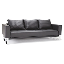 Cassius Quilt Black Modern Sofa Sleeper