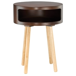 Collie Modern Walnut Side Table