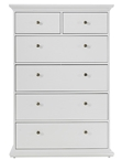 Palermo High Chest in White