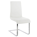 doxie modern dining chair in white