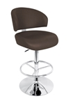 regent bar stool in brown