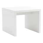 Abel Modern White Side Table