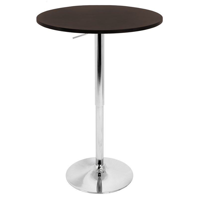 "Arthur 27"" Brown Adjustable Bar Table"