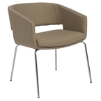amy lounge chair in latte