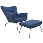 Aviator Lounge Chair and Ottoman