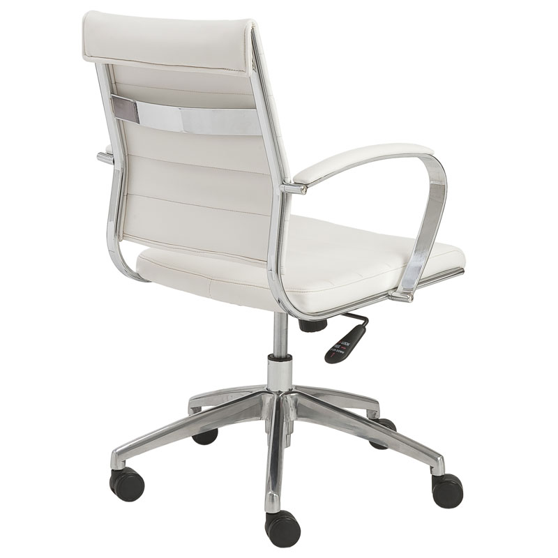 alex low back office chair - back