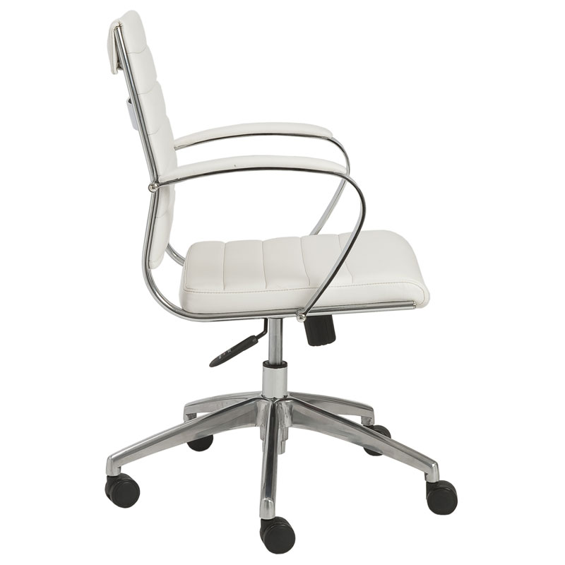 alex low back office chair - side view