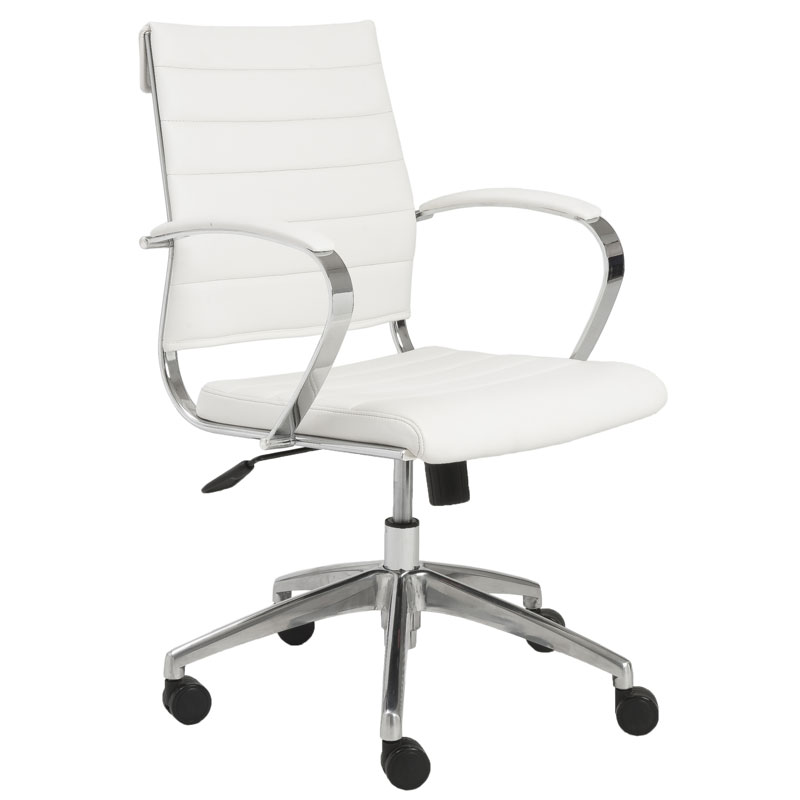 alex low back office chair in white