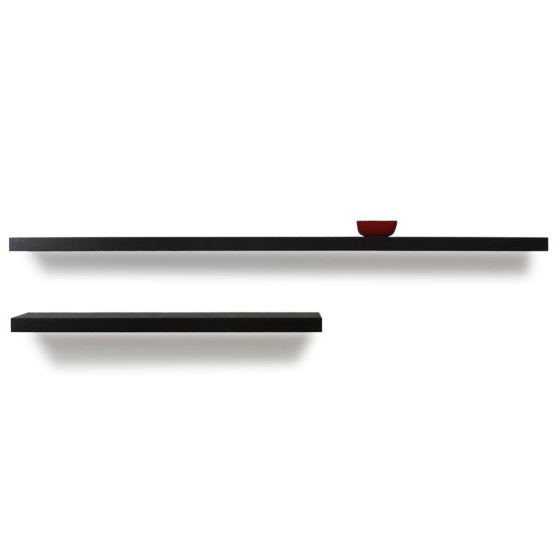 Bailey Modern Wall Shelves in Espresso