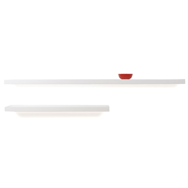 Bailey Modern Wall Shelves in Whitea
