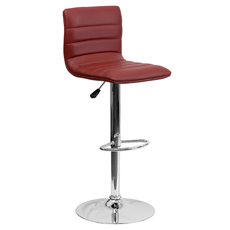 Belgrade Barstool in Burgundy