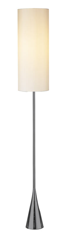 Floor Lamps - Bella Modern Floor Lamp in Black Nickel
