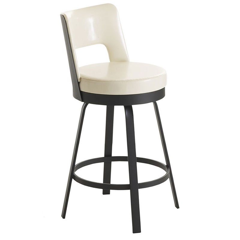 Benson Bar Stool in Black Coral and Eggshell