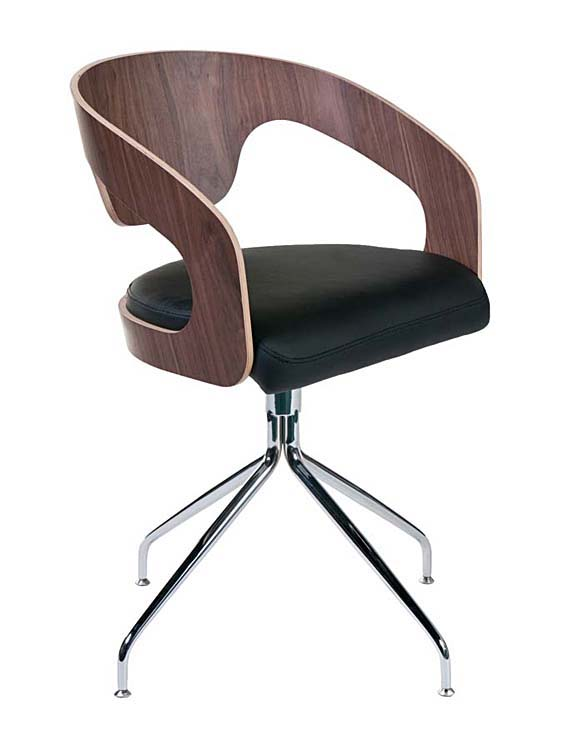 Bernice Swivel Chair Walnut